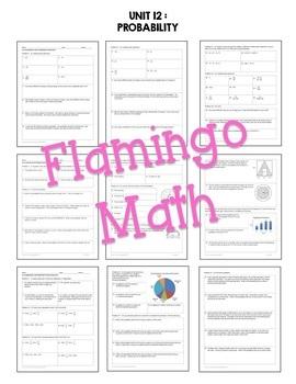 Algebra 2: Probability HOMEWORK Bundle