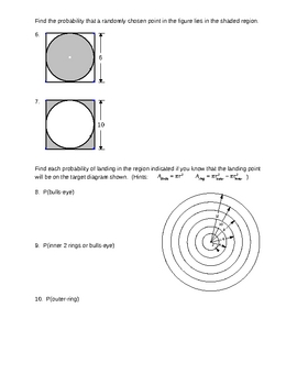 Probability III - Geometric Probability for Busy Teachers