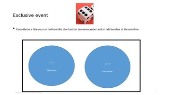 Probability - Inclusive & Exclusive Events PowerPoint