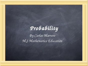 Probability Interactive Introductory Unit