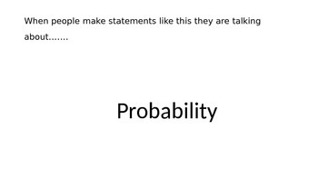 Probability Introduction to chance and data - PowerPoint