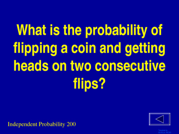 Probability Jeopardy