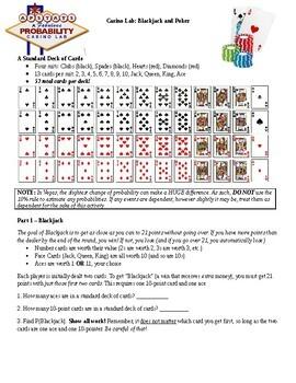 Probability Lab: Blackjack and Poker