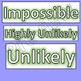 Probability Language cards for display in classrooms