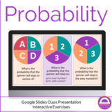 Probability Lesson and Activities Google Slides Interactive