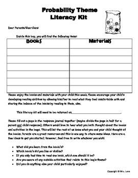 Probability Literacy Kit Idea