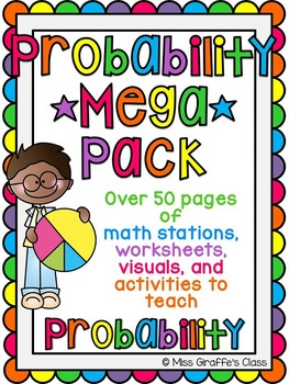 Probability Activities MEGA Pack of Math Worksheets and Probability Games