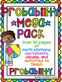 Probability Activities MEGA Pack of Math Worksheets and Pr