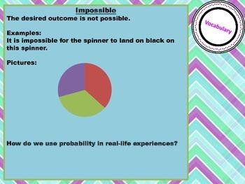 Probability Mania Bundle games, vocab, assessment, word problems, scoot