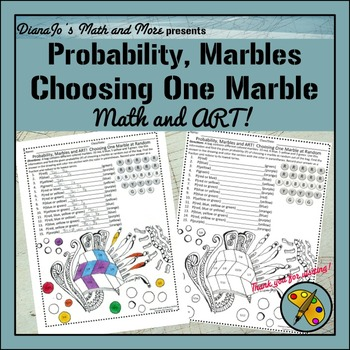 Probability, Marbles and Art Worksheet