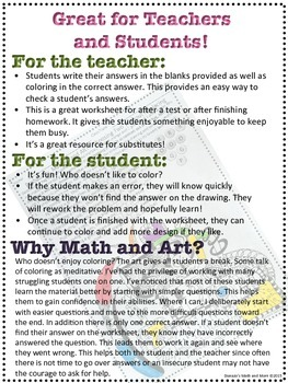 Probability, Marbles and Art Worksheet - Without Replacing