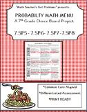 Probability Math Menu: A Choice Board Project
