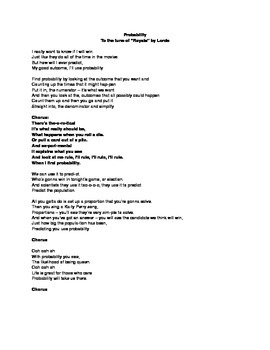 Probability Math Song
