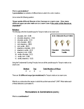 Probability Note Packet
