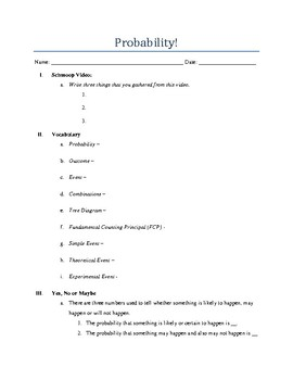 Probability Notes! (Math 6)