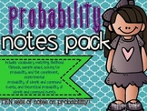 Probability Notes- Pack of TEN!