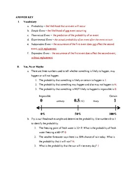 Probability Notes (Pre-Algebra)