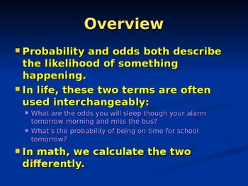 Probability & Odds PowerPoint