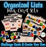Probability: Organized Lists Task Cards