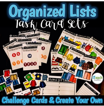 Probability: Organized Lists Task Cards