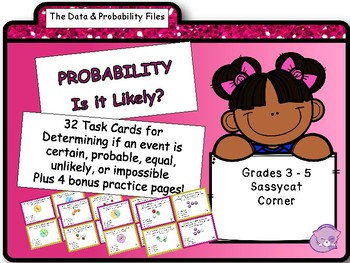 Probability - Outcome of an Event Task cards