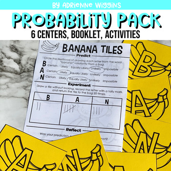 Probability Pack! (6 centers and with recording booklet)