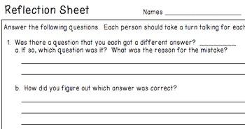 Probability - Partner Practice Worksheets + Reflection Page (7.SP.C.5)