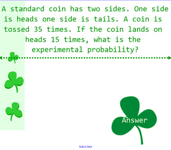 Probability Place Your Bets Review Game VA SOL 7.9 and 7.10