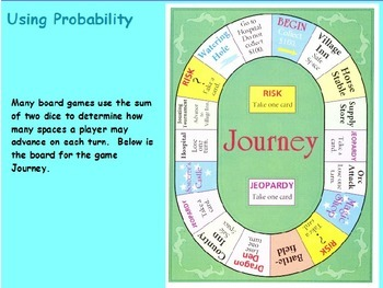 Probability - Playing a Board Game (POWERPOINT)