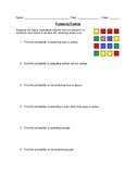 Probability Practice Including With and Without Replacement