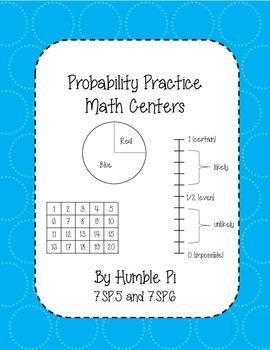 Probability Practice Math Centers- 7.SP.5, 7.SP.6