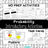 Probability Activities and Vocabulary Practice with Dice, Coins, and Spinners