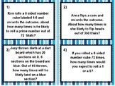 Probability Predictions, ( Simple & Compound) Task Cards & Quiz ( TEK 7.6H)