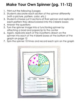 Probability: Print & Go! worksheets, activities, lessons, and assessments