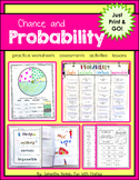 Probability: Print & Go! worksheets, activities, lessons,