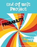Probability Project with Spinners and Dice