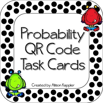 Probability QR Code Task Cards