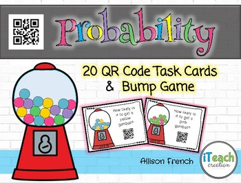 Probability QR Code Task Cards and Bump Game