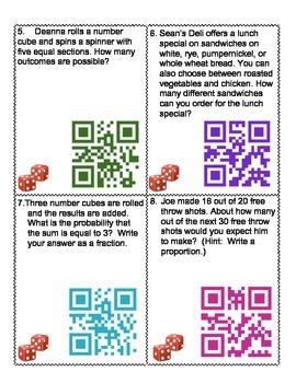 Probability QR Codes Activity