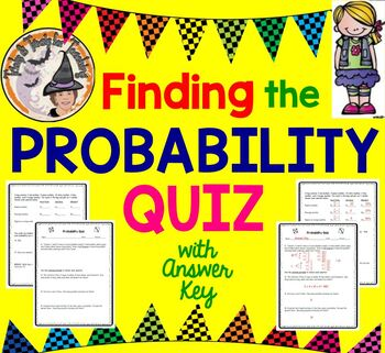 Probability Odds QUIZ Practice Worksheet Homework Finding the Probability