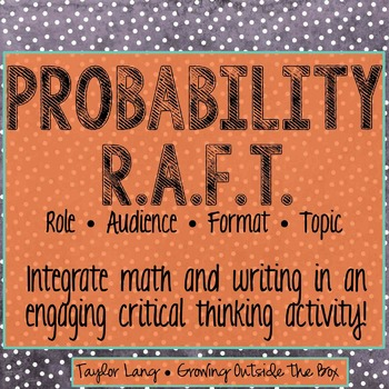 Probability R.A.F.T. - Critical Thinking Activity