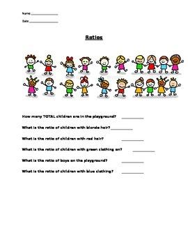 Probability - Ratios of School Children WORKSHEET