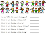 Probability - Ratios of School Children (worksheet Included) (POWERPOINT)