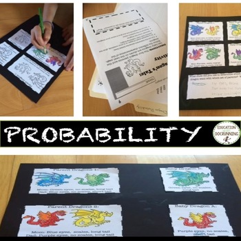 Probability project-based learning - genetics and dragons for probability