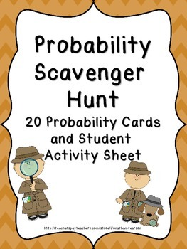 Probability Scavenger Hunt  20 Probability Questions with