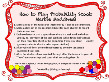 Probability Scoot Marble Maddness
