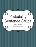 Probability Sentence Strips Worksheet