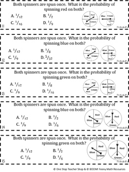 7th Grade Probability Game | 7th Grade Math Review