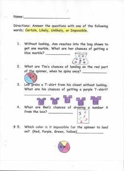 Probability Sheet