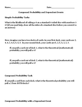 Probability: Simple, Compound, Dependent